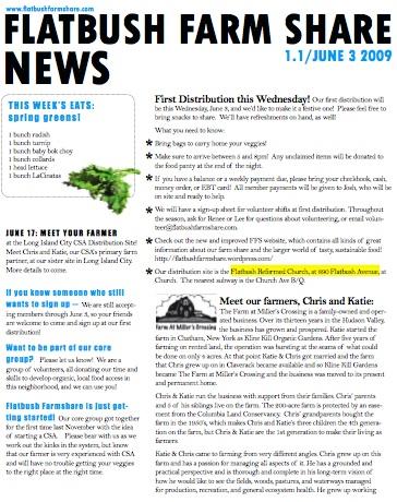 Snapshot of FFS Newsletter 1